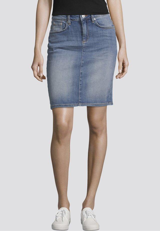 Spódnica jeansowa - light stone wash denim