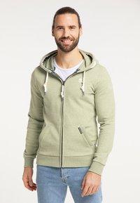 Schmuddelwedda - Zip-up sweatshirt - pastelloliv melange - 0