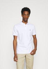Marc O'Polo - SHORT SLEEVE BUTTON - Polo shirt - white - 0