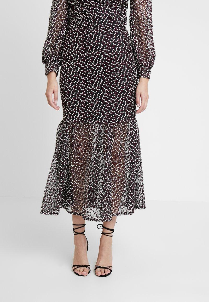 Mossman - THE SPELLBOUND SKIRT - Maxi skirt - black/white