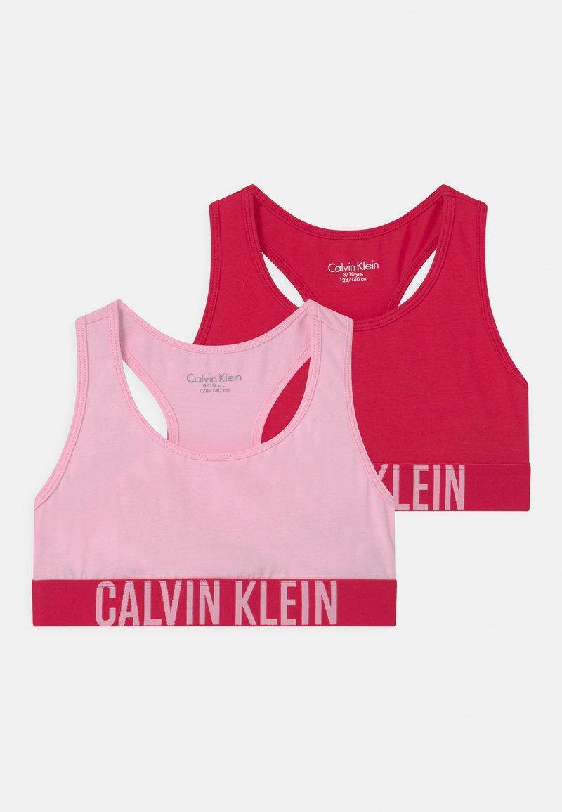 Calvin Klein Underwear - 2 PACK - Bustier - romanticpink/flushedred