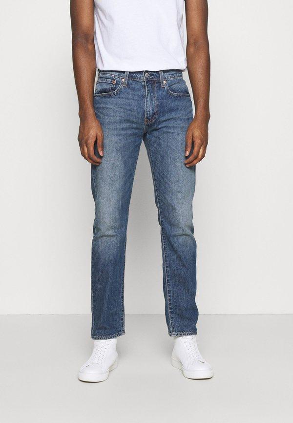 Levi's® 502 TAPER - Jeansy Slim Fit - dark indigo worn in/niebieski denim Odzież Męska AFOB