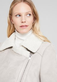 Oakwood - Faux leather jacket - light grey - 3