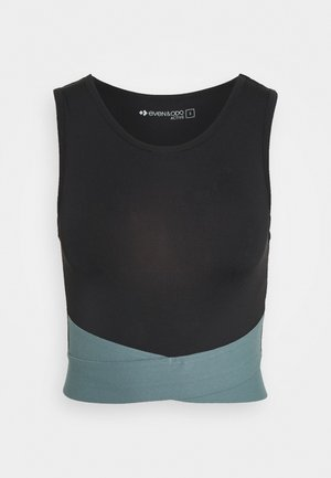 TWIST CROP - Top - black