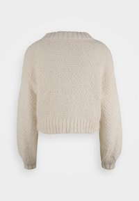 Glamorous Tall - KNITTED CROP JUMPER WITH LONG SLEEVES AND BOAT NECK - Stickad tröja - off white - 1