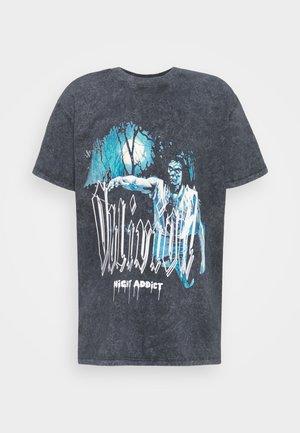 T-shirts print - acid wash black