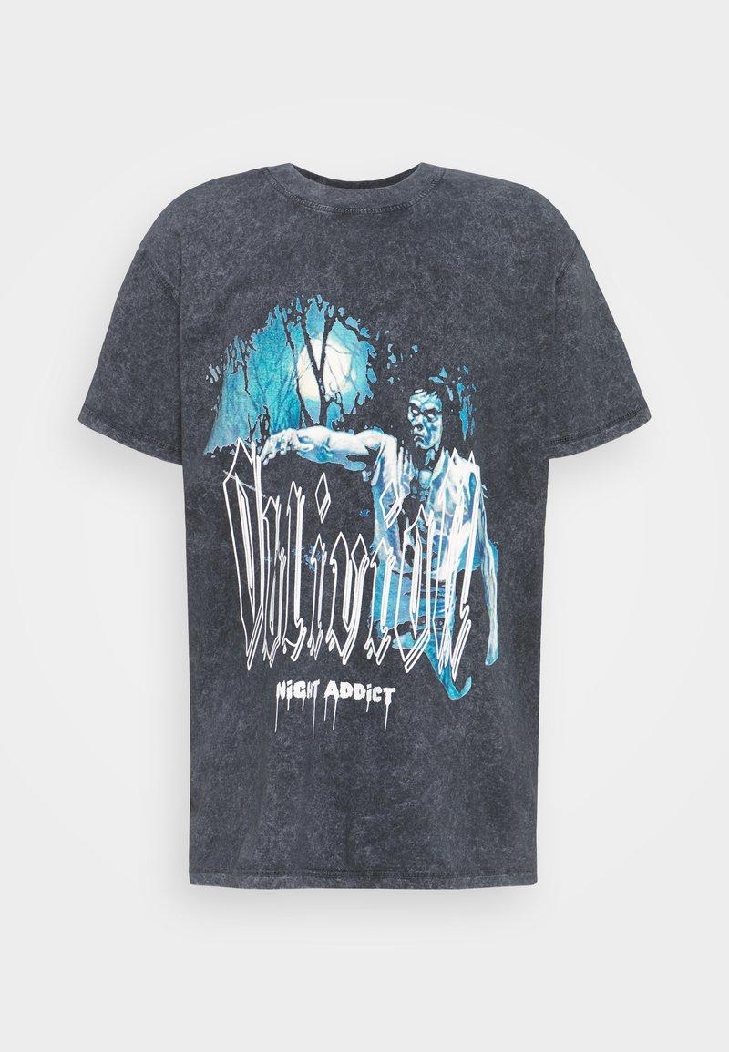 Night Addict - Print T-shirt - acid wash black
