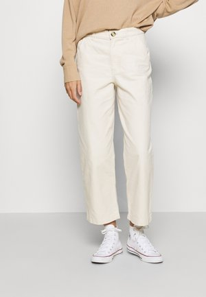 MABEL TROUSERS - Kalhoty - white dusty light flex