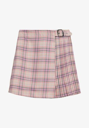 PLEAT DETAIL CHECKED SKIRT - Minisukně - multi coloured