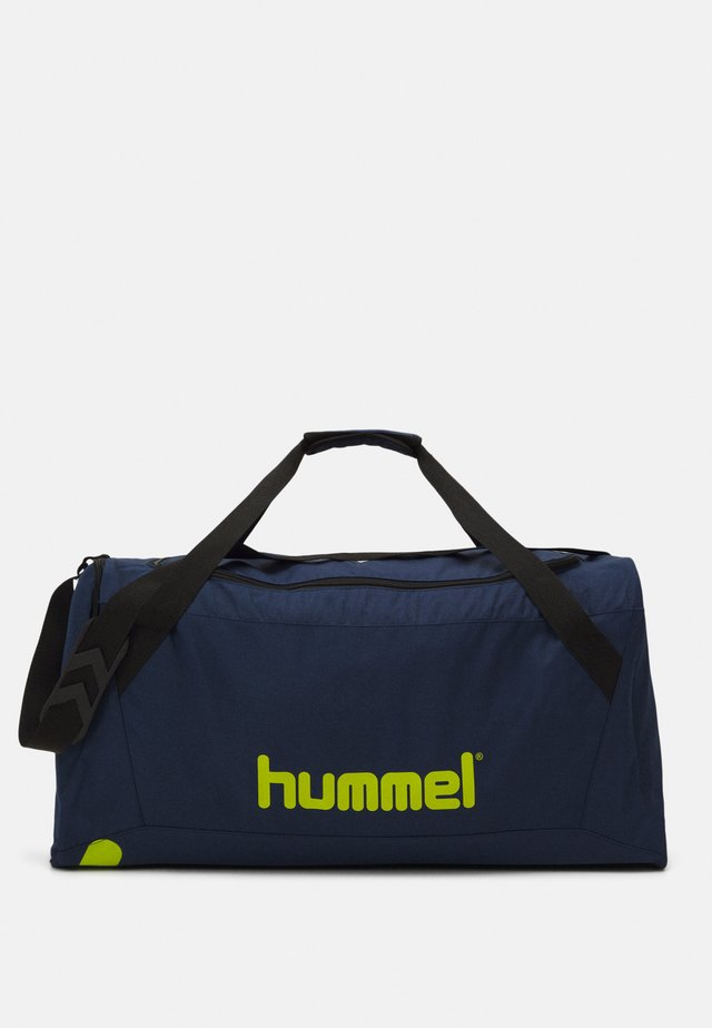 CORE SPORTS BAG - Urheilukassi - dark denim/lime punch