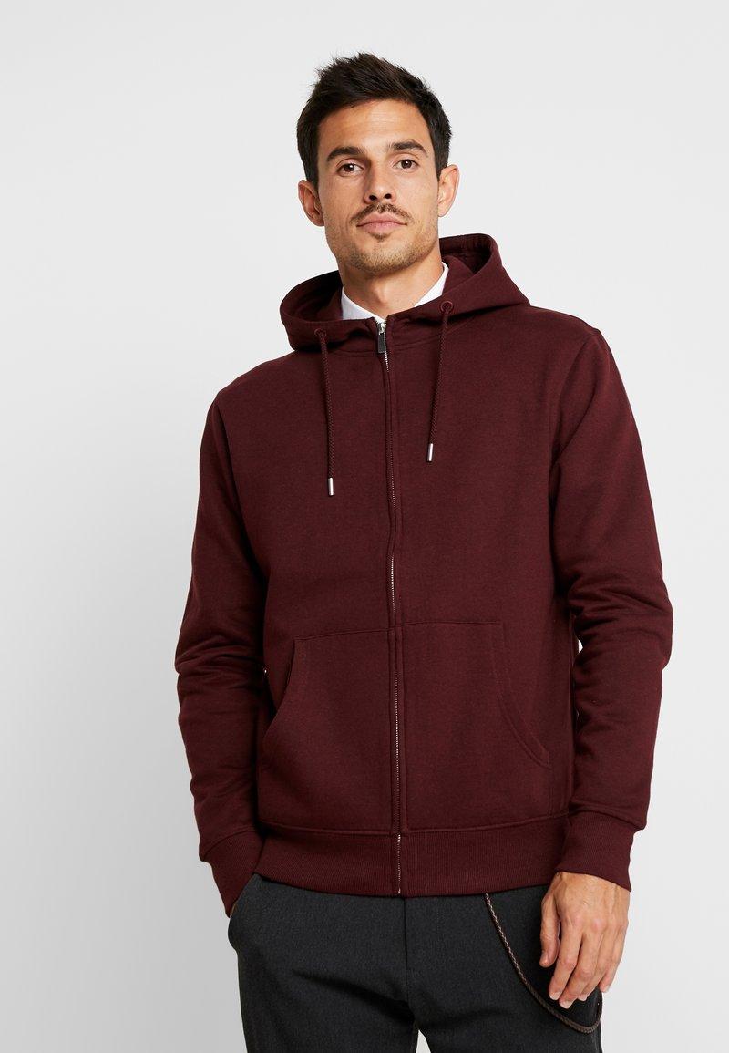 Solid - MORGAN - Zip-up sweatshirt - wine