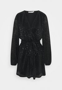 Nly by Nelly - WRAP SEQUIN DRESS - Cocktail dress / Party dress - black - 0