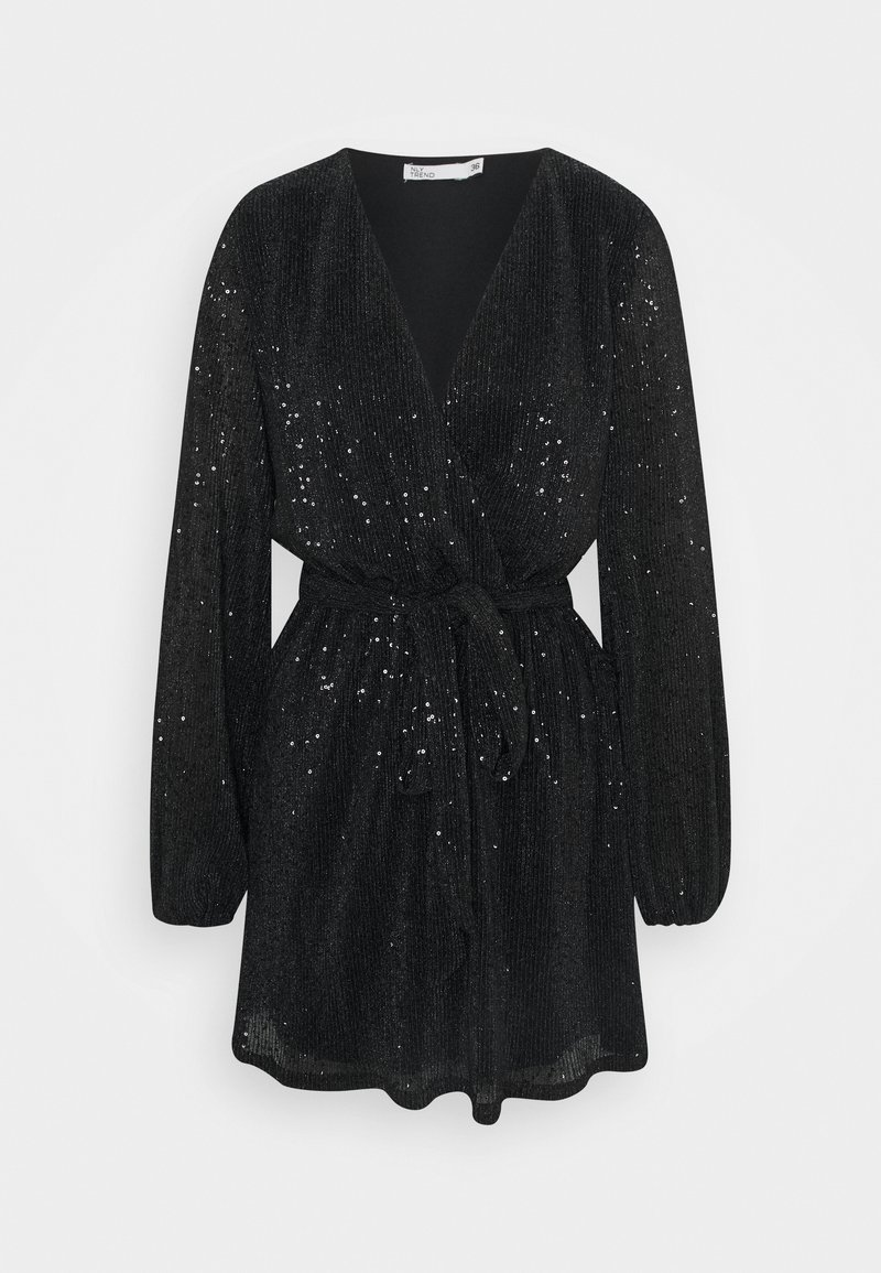 Nly by Nelly - WRAP SEQUIN DRESS - Cocktail dress / Party dress - black