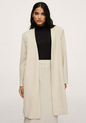 MIT SCHULTERPOLSTERN - Krátký kabát - beige