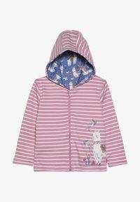 JoJo Maman Bébé - LLAMA REVERSIBLE HOODIE - veste en sweat zippée - rosa - 3