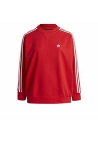 adidas Originals - ADICOLOR ORIGINALS SLIM PULLOVER - Sweatshirt - red - 0
