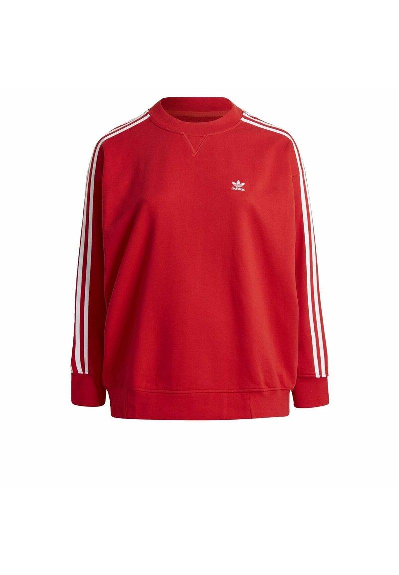 adidas Originals - ADICOLOR ORIGINALS SLIM PULLOVER - Sweatshirt - red