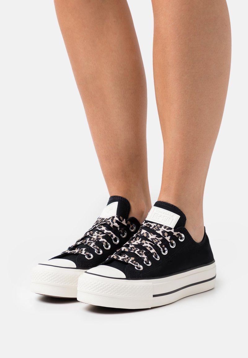 Converse - CHUCK TAYLOR ALL STAR ARCHIVE PLATFORM - Zapatillas - black/light fawn/egret