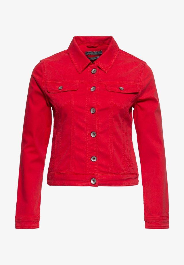 ALICIA - Denim jacket - feuerrot