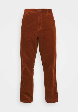 SINGLE KNEE PANT COVENTRY - Tygbyxor - brandy rinsed