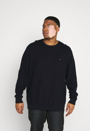 HONEYCOMB CREW NECK - Sweter - blue