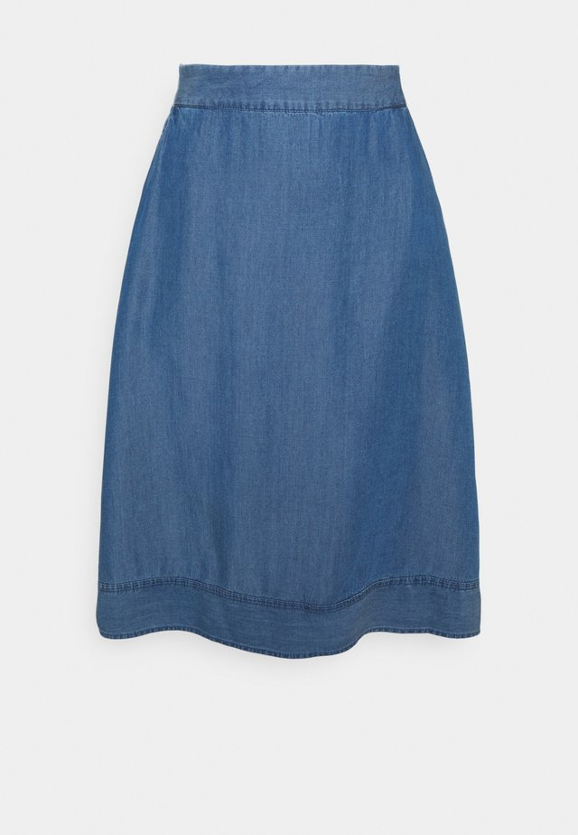 MINDY SKIRT - Gonna a campana - light blue wash