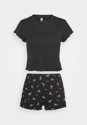 POINTELLE SLEEP SET - Pyjama set - spriggy washed black