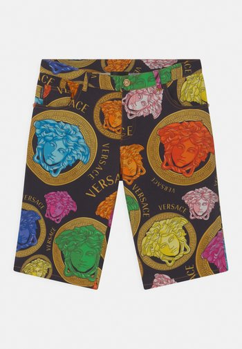 MEDUSA AMPLIFIED - Denim shorts - black/multicolor
