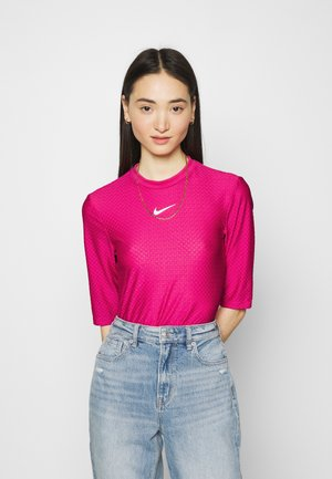 Print T-shirt - fireberry/white