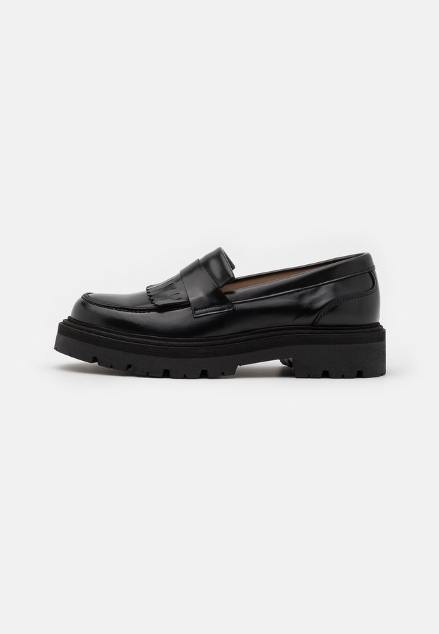 SPIKE LOAFER - Plateaupumps - black