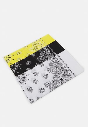 BANDANA 3 PACK UNISEX - Scarf - black/yellow/white