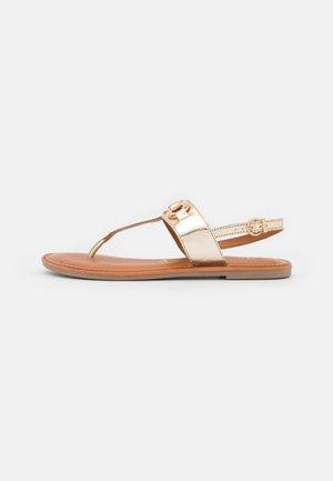 T-bar sandals - light gold metallic