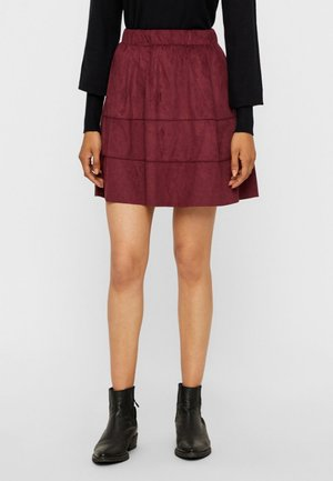 NMLAUREN  - A-line skirt - red