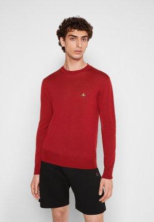 ROUND NECK - Jumper - red