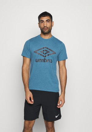 LARGE LOGO TEE - Print T-shirt - blue sapphire marl