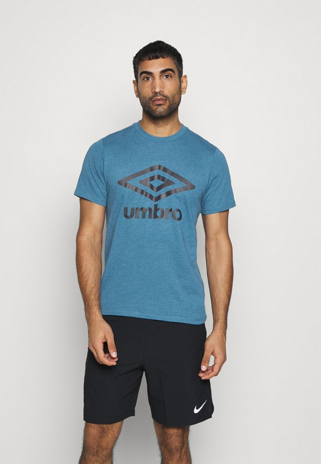 LARGE LOGO TEE - T-shirt con stampa - blue sapphire marl