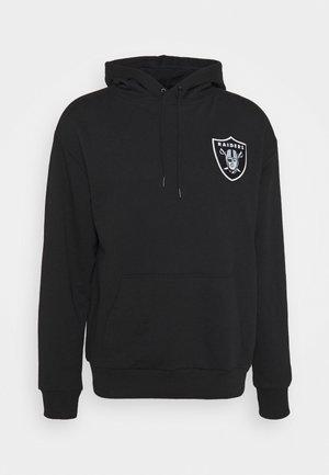 LAS VEGAS RAIDERS NFL DETAIL LOGO HOODY - Klubbkläder - black