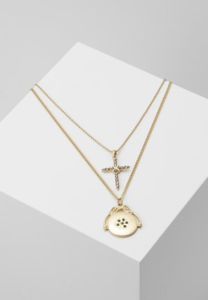 LOCKET CROSS DOUBLE ROW 2 PACK - Ketting - gold-coloured