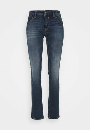 OLIVIA - Straight leg jeans - indigo distressed glam