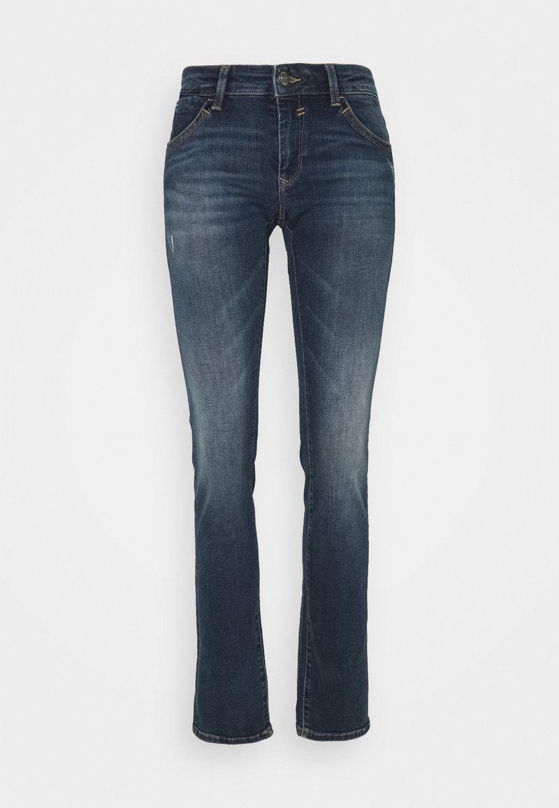 Mavi - OLIVIA - Straight leg jeans - indigo distressed glam