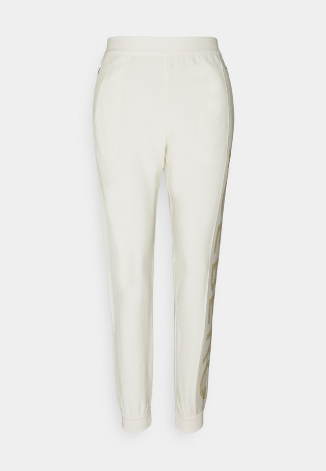 PANTALONE MAGLIA - Pantalon classique - bianco