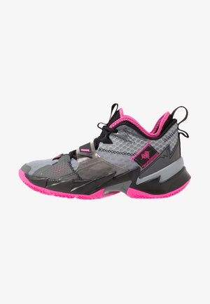 WHY NOT ZER0.3 - Basketball shoes - particle grey/pink blast/black/iron grey