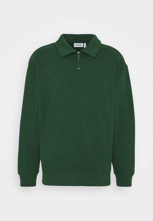STEFAN HALFZIP UNISEX - Sweatshirt - dark green