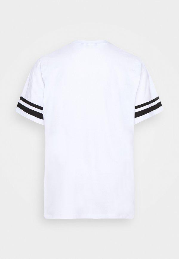 Only & Sons ONSNASA STRIPE TEE PLUS - T-shirt z nadrukiem - white/biały Odzież Męska KCRB