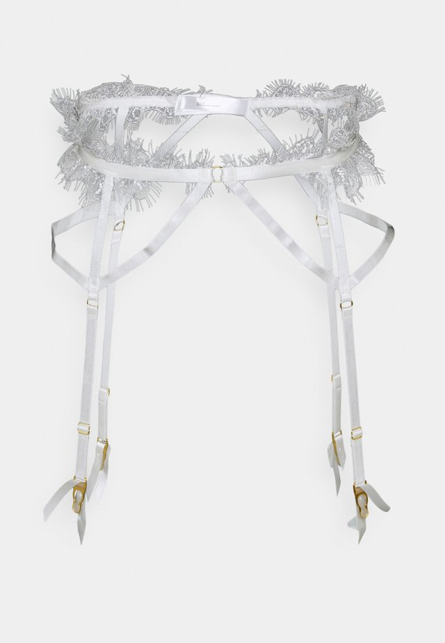 CHANTAL PLACEMENT CAGE SUSPENDER - Strømpeholdere - white