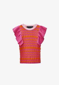 Uterqüe - Print T-shirt - pink - 5