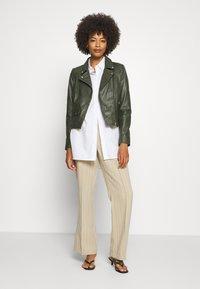 Ibana - FABIENNE - Leather jacket - green - 1