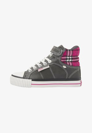 ATOLL - Sneaker low - dk grey/fuchsia checker