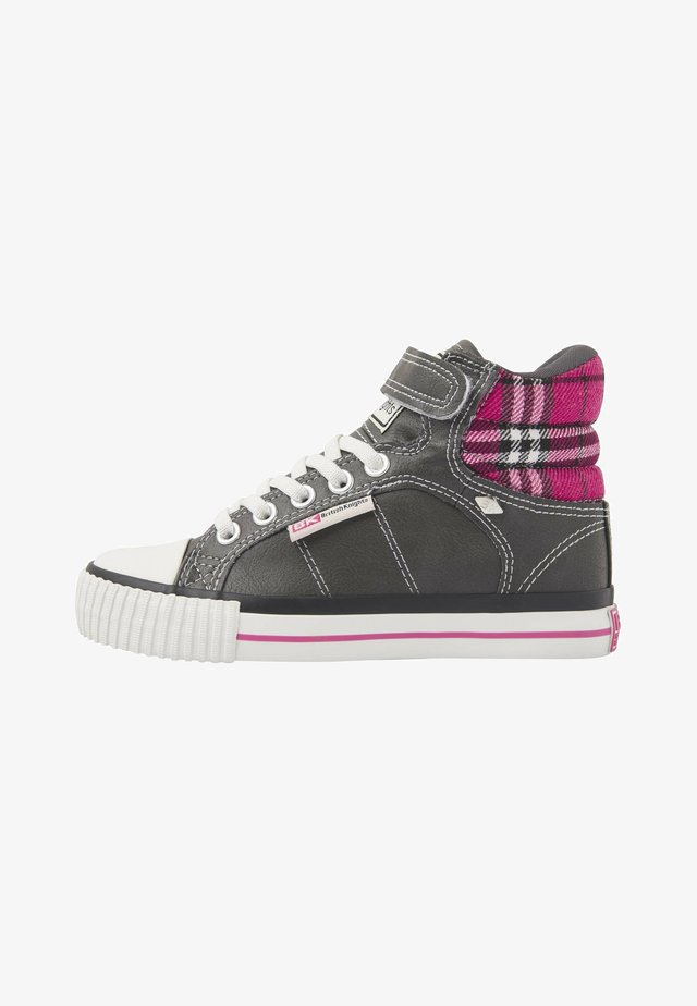 ATOLL - Sneakers laag - dk grey/fuchsia checker