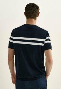Massimo Dutti - Print T-shirt - blue - 1